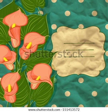 floral background with calla