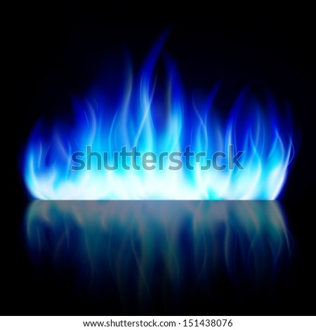 blue fire flame isolated