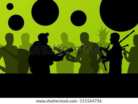 rock concert various musicians