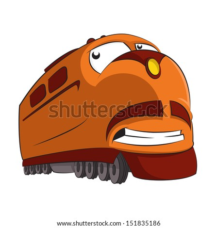 vector image of funny cartoon