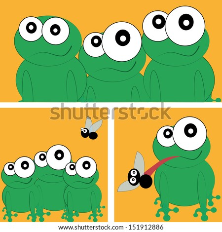 a group of green frogs in a