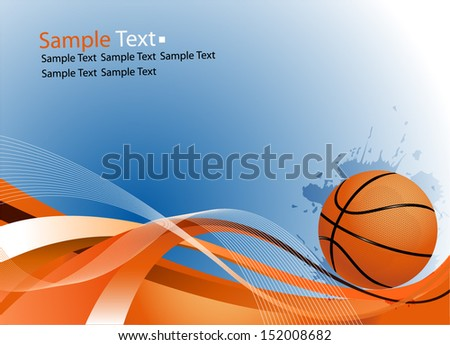 sample text basketball ball