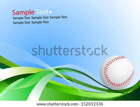 baseball ball sample text