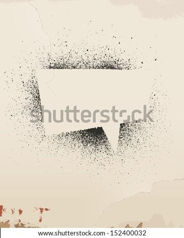 speech bubble  spray painted