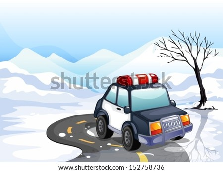 illustration of a patrol car in