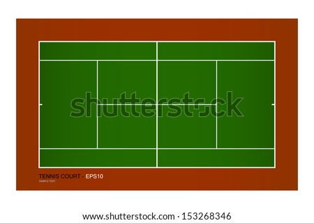 Lawn tennis court top view