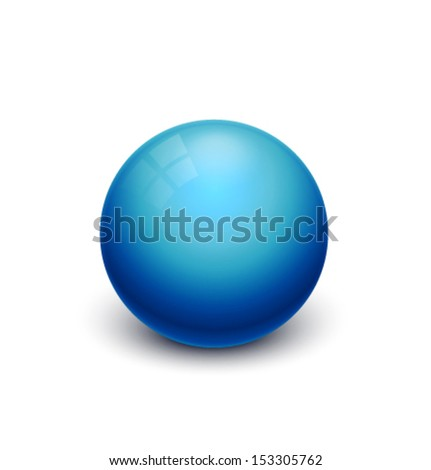 blue glossy spheres isolated on