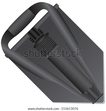 folded compact army shovel in
