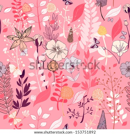 pink seamless background with