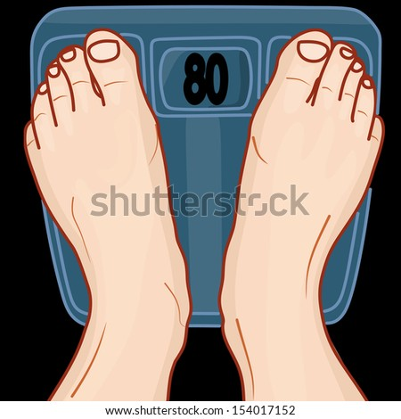 human feet on the scale