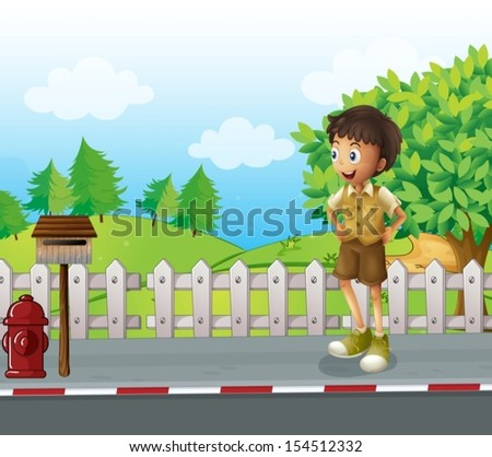 illustration of a boy at the