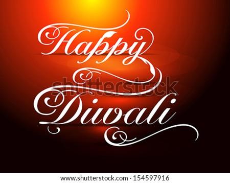 happy diwali card vector