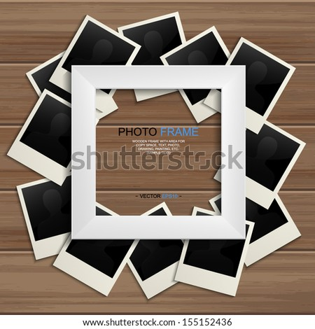white photo frame and blank
