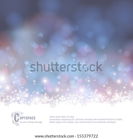winter bokeh background with