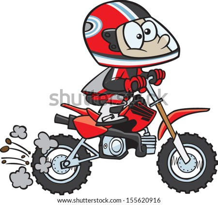 cartoon dirt bike rider