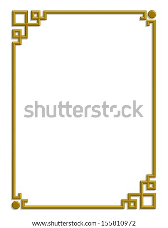 3d vector of beautiful golden