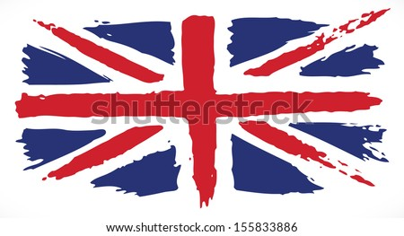 grunge uk flag painted uk flag