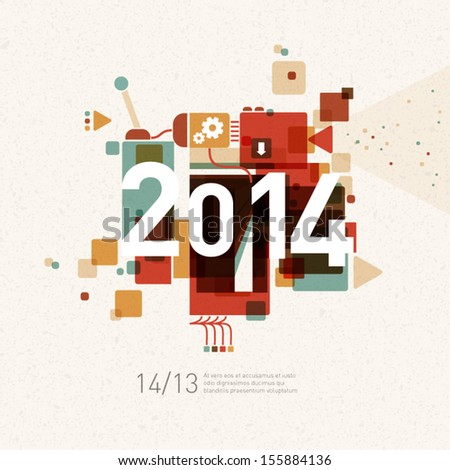 2014 colorful graphic design