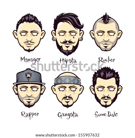 set of modern men hairstyles