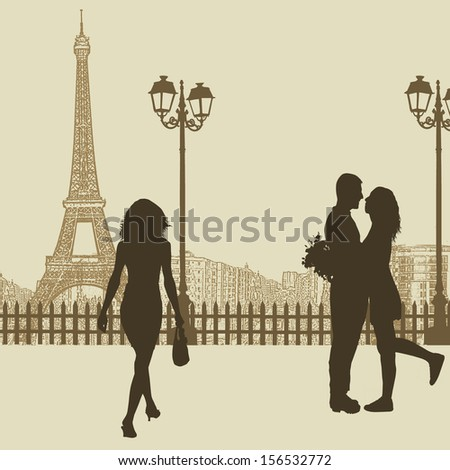 peoples on a street in paris on