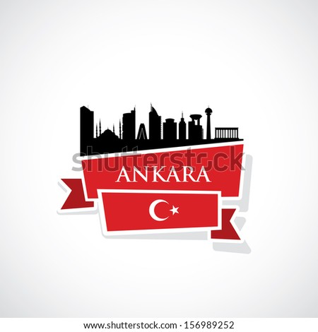 ankara ribbon banner   vector