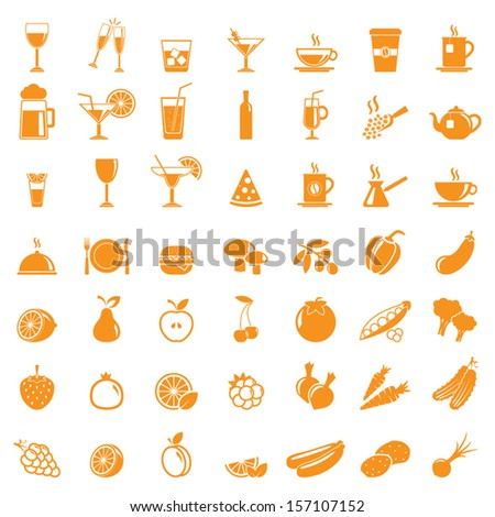 vector collection  food icons