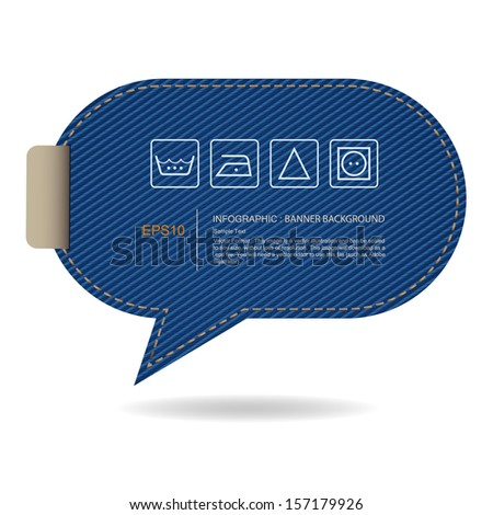 abstract speech bubble of blue