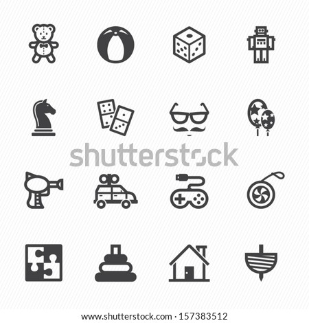 toy icons with white background