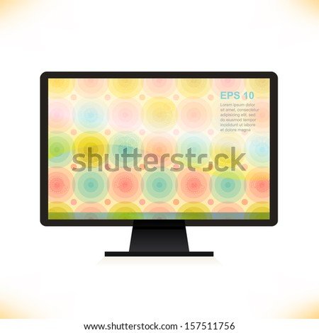 vector isolated monitor