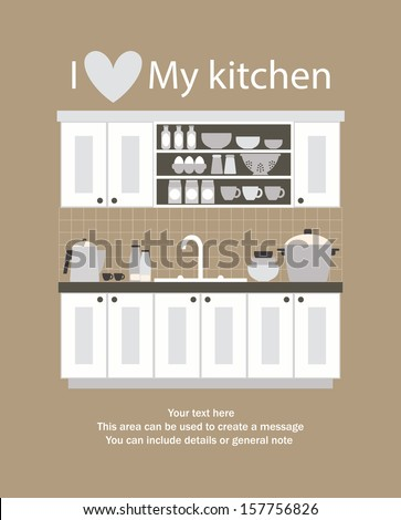 i love my kitchen card design