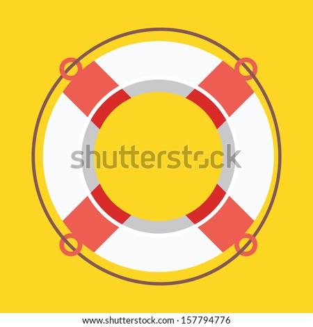 vector lifebuoy icon