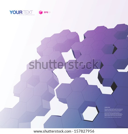 abstract colorful 3d hexagon