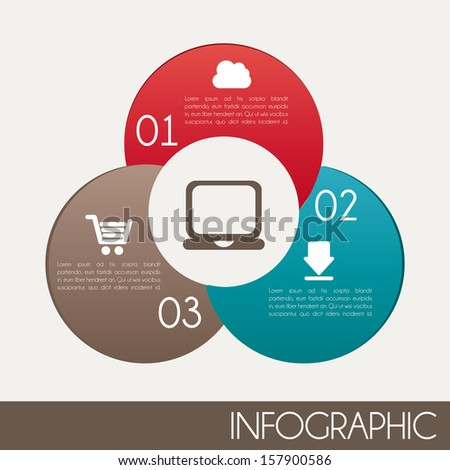 infographics design over white
