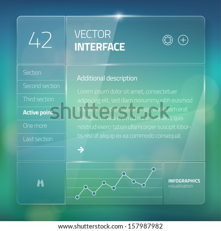 website interface template