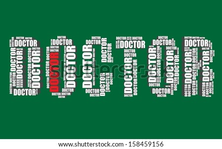 doctor typography 3d text word