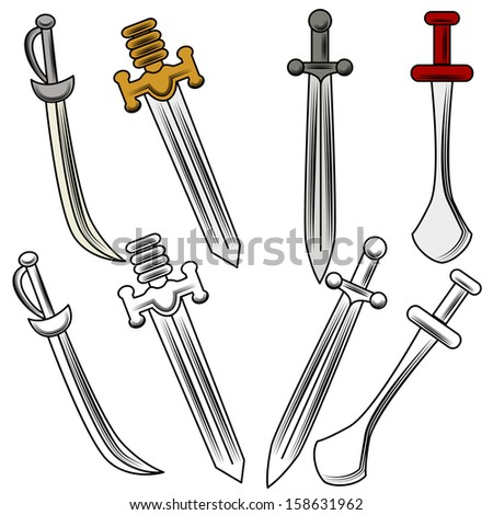 an image of different swords