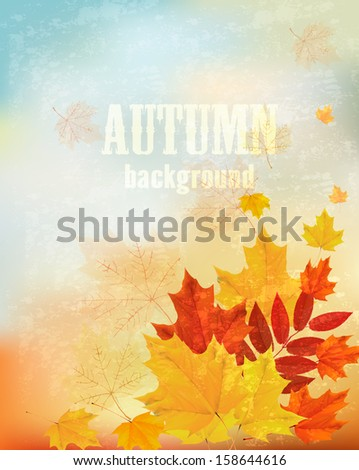 abstract retro autumn