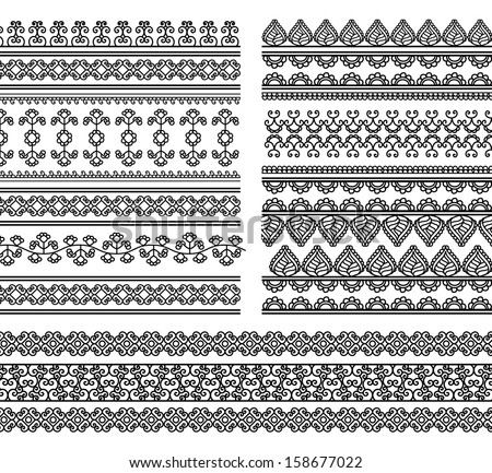 Decorative Border Designs Indian Henna Border Decoration