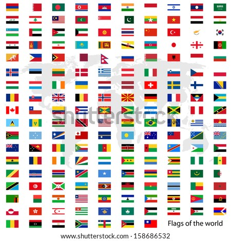 flags vector of the world and