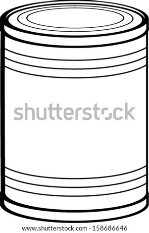 Canned Food Clip Art Free Sketch Coloring Page