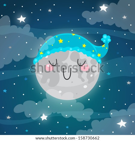 sleeping moon good night