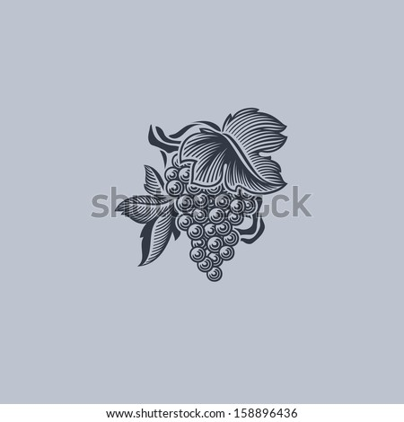 grape with leaf element for