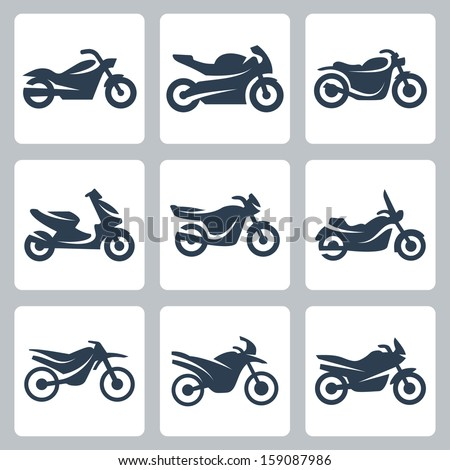 vector isolated motorcycles