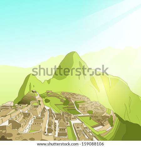 simple clean vector machu