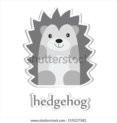 cartoon hedgehog isolated on