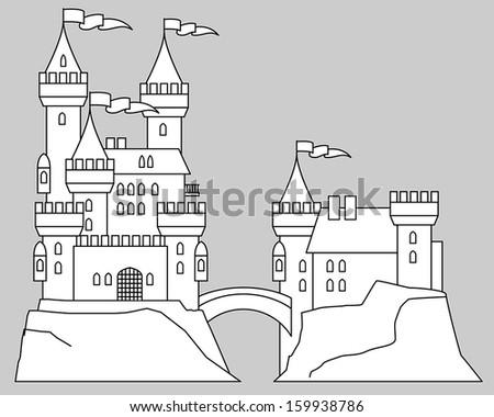 castle fairy tale  vector
