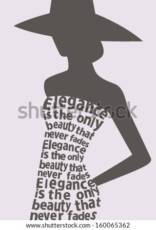 silhouette of woman in dress