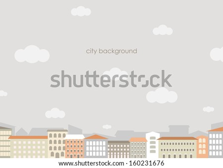 urban background with grey sky