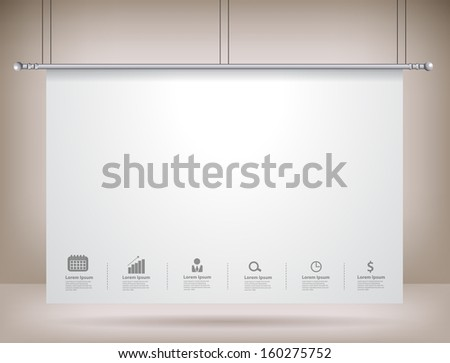 projector screen on wall