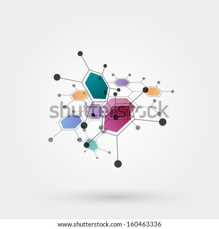 molecules  eps10 vector